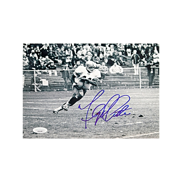 Floyd Little Syracuse University Autographed Black and White Action 8x10 Photograph JSA
