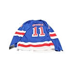 "Mark Messier New York Rangers Autographed Jersey and Puck Inscribed ""1994 Stanley Cup Champions"" (CX)"
