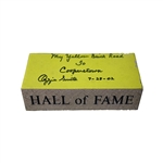 "Ozzie Smith Autographed and Inscribed ""My Yellow Brick Road to Cooperstown 7-28-02"" Hall of Fame Brick (JSA COA)"