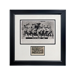 "Syracuse Vintage Football Team Photographs Collage - Contains 2 Late 1800s Syracuse Football Photographs (Framed Size is 16"" x 16"")"