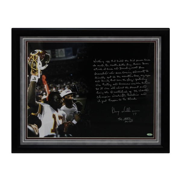 "Doug Williams Autographed and Inscribed ""SB XXII MVP""16x20 Super Bowl Photo (Steiner Hologram)"