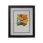 "Billy Joel Autographed and Inscribed ""Be brave! Be strong! Cheers!"" Original ""Oliver the Brave"" 18x21 Framed Watercolor Painting (Steiner Hologram)"