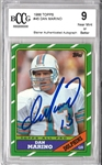 Dan Marino Autographed 1986 Topps Beckett BCCG Near Mint 9 Card (Steiner Authenticated Autograph)