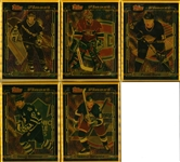 Lot of 5 1995 NHL Topps Finest Bronze Metal Trading Cards