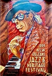 1999 NOLA Jazz & Heritage Festival 30th Anniversary Professor Longhair Multi Signed Poster Limited Edition (JSA LOA)