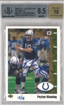 Peyton Manning Autographed 2003 Upper Deck Ultra Collection Buybacks #45 Beckett NM-MT 8.5 Card LE 10/15